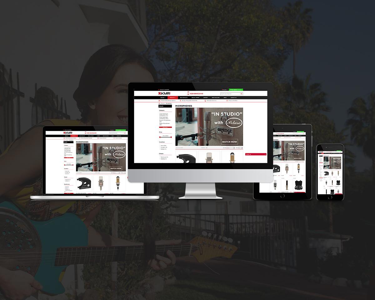 KMR Audio web development