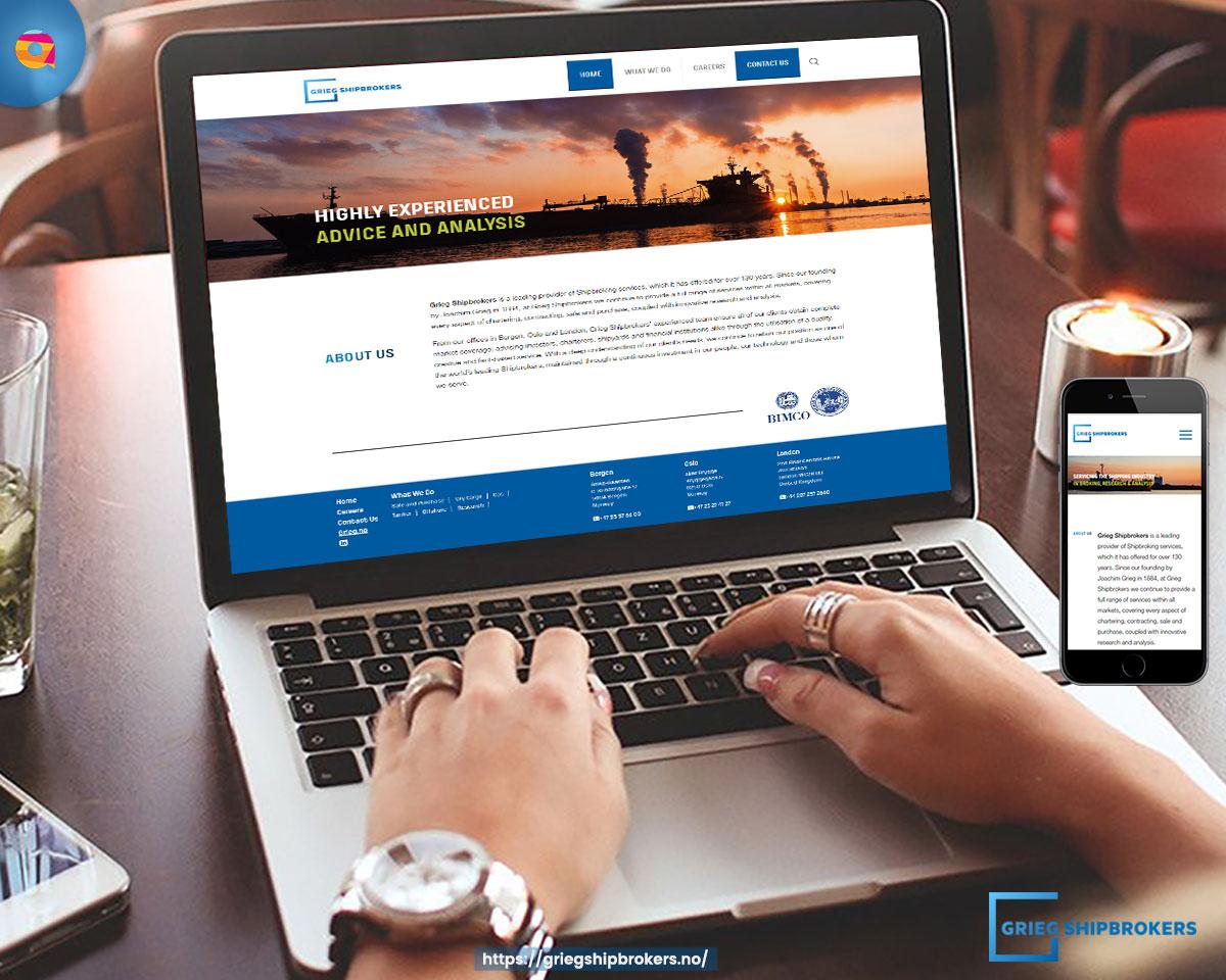 Grieg Shipbroker webdesign