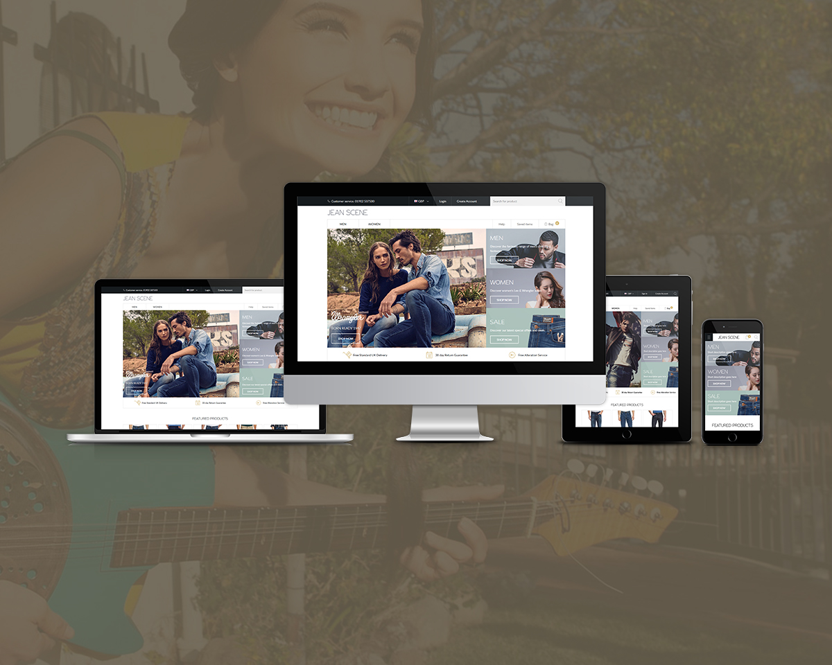 Jeanscene Magento Website