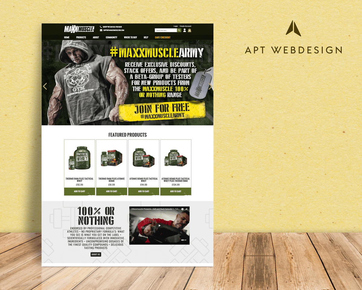 Maxxmuscle Magento Website